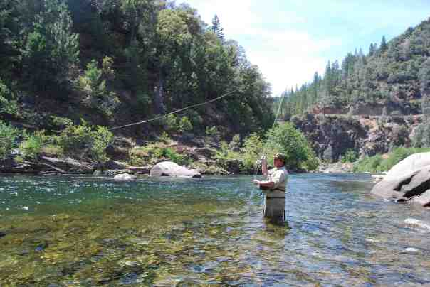 Brian at ease fly-fishing in the American River.