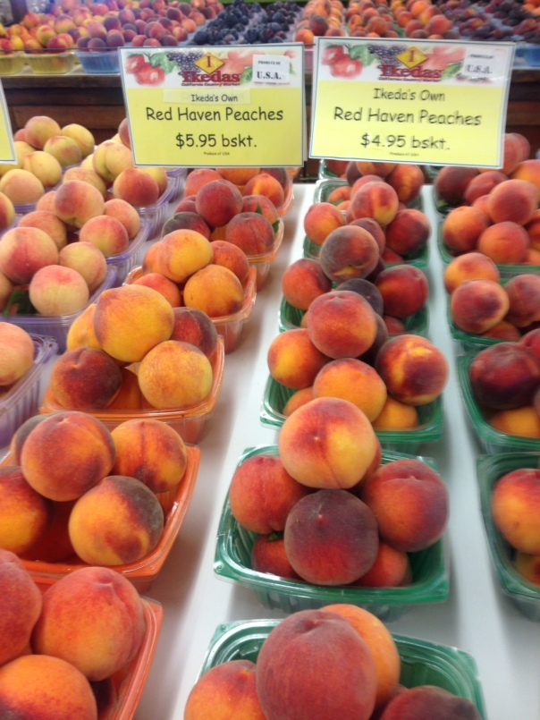 Do I dare to eat a peach? Yes, I do! Thanks to Ikeda's!
