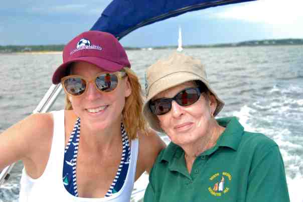 Skipper and Crew.  My wonderful mother, Beverly, and gorgeous sis, Joanna.