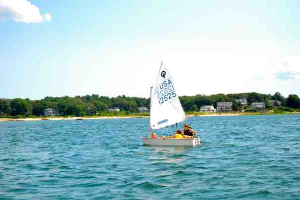 The sailing lessons start early in Buzzards Bay.