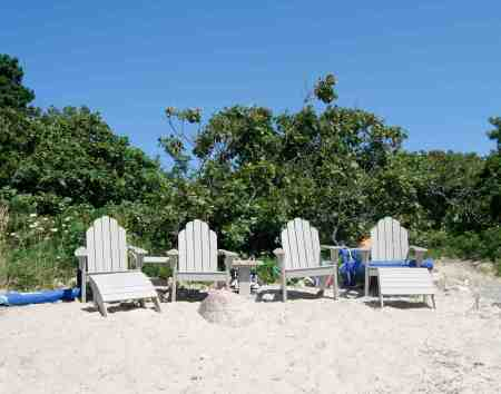 Are these Adirondack chairs teasing us?  So tempting to sit down and rest!