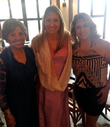 Mujeres hermosas. Frida, la mama de German, con Janina y Linda.