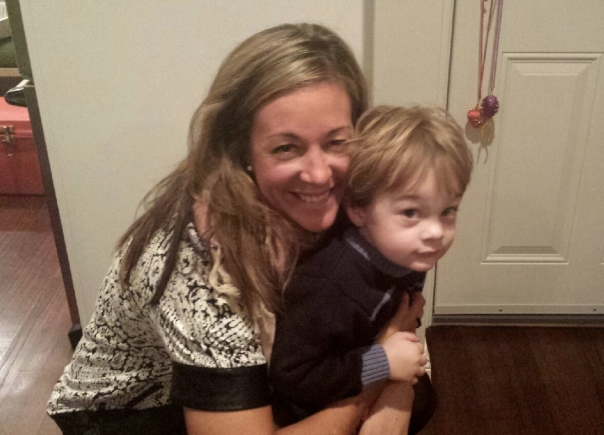 Our beautiful hostess, Meg, with her adorable son, Kellan. (Photo by Kiki.)