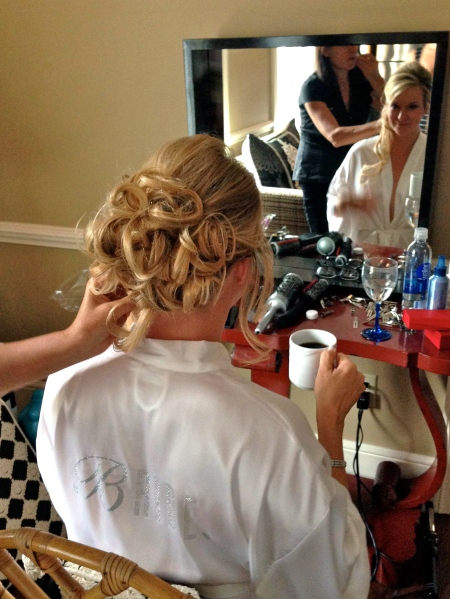 Janet from Salon Isa makes the bride even more beautiful. How is that possible?