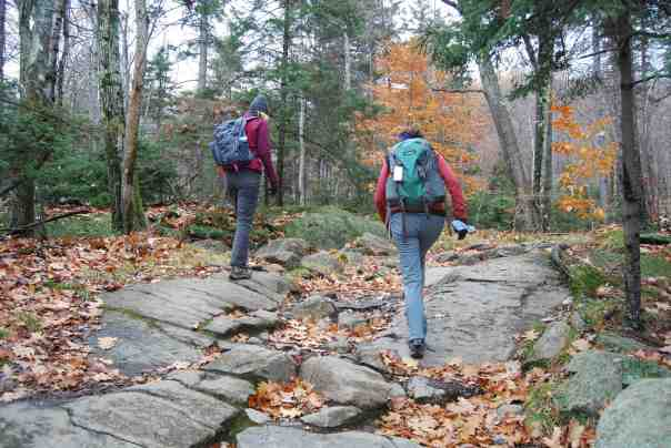 starting along the granite trail
