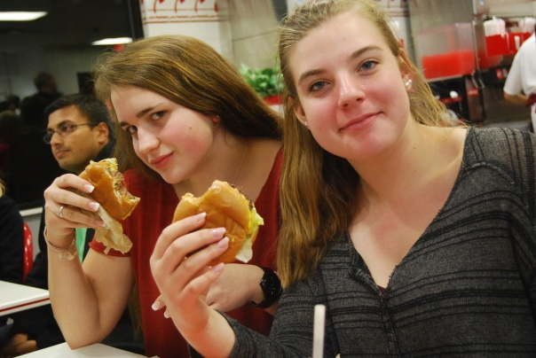 6 Julia and Claire at In and Out