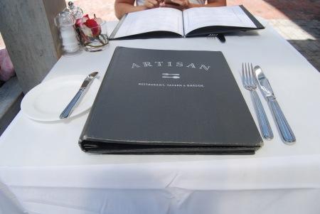 17 Artisan menu